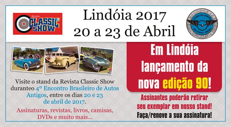 Visite o stand da Classic Show em Águas de Lindóia/SP