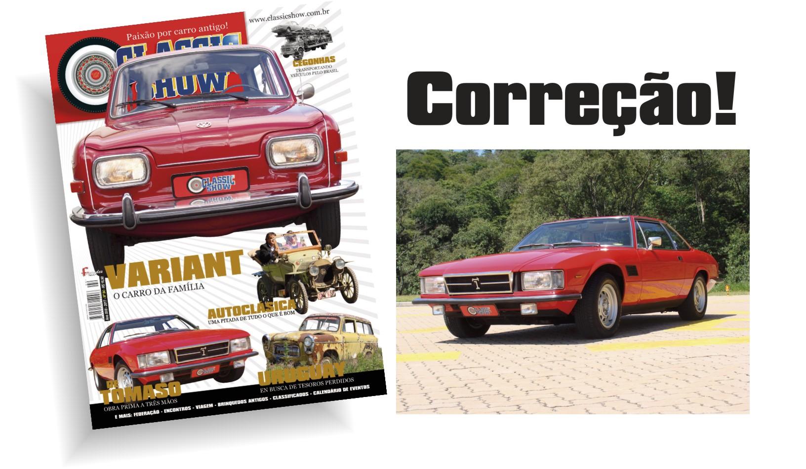 ERRATA: Revista Classic Show edição 94