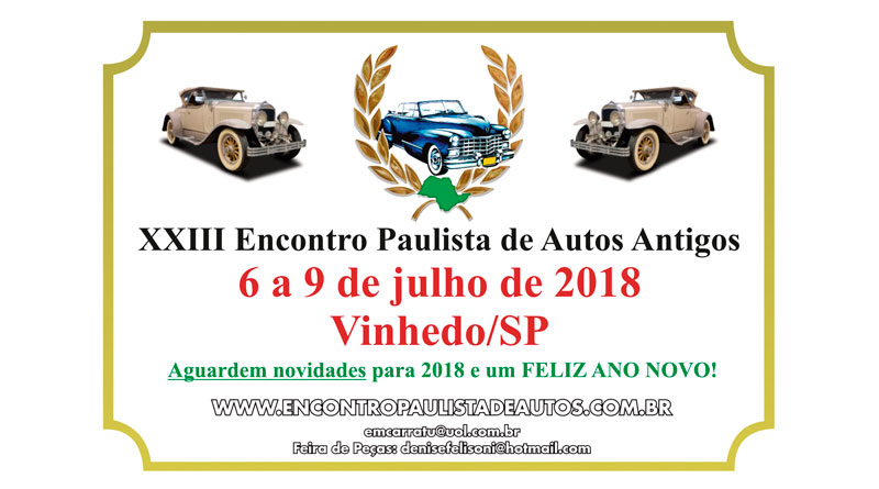 Resultado de imagem para encontro paulista de autos antigos 2018