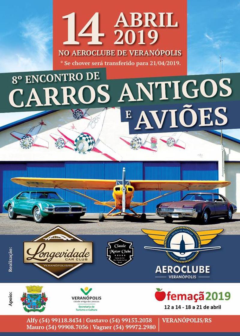 8º Encontro de Carros Antigos e Aviões de Veranópolis/RS
