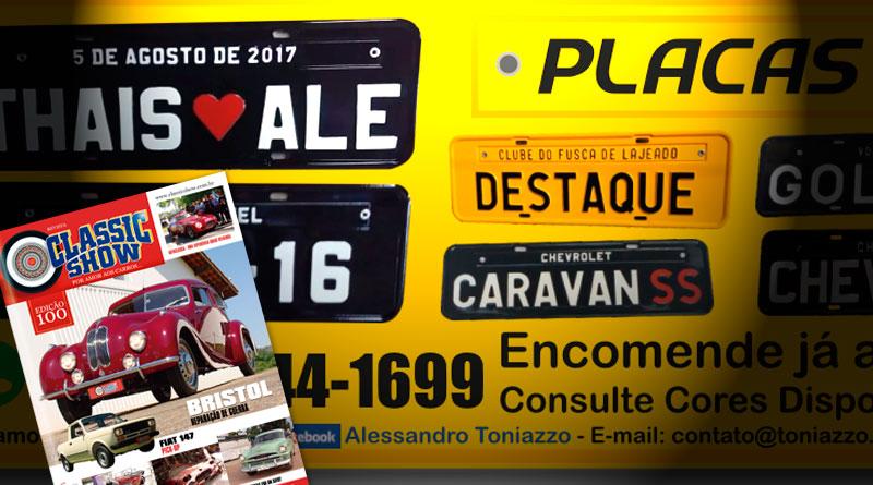 A Toniazzo Placas Personalizadas está na Revista Classic Show!